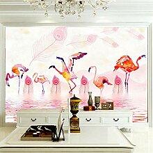 Art Print Fototapeten Flamingo Wandbilder