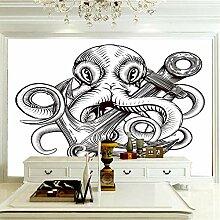 Art Print Fototapeten Tintenfisch Wandbilder