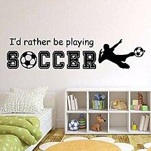 Art Soccer Umweltschutz Vinyl Aufkleber Für