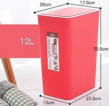 Art und Weise kreative Hand entsprechend dem Abfalleimer des Haushalts-Badezimmer-Schlafzimmer-Wohnzimmer-Mülleimer mit Abdeckung ( farbe : Pink , größe : 12L )