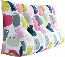Art- und Weisedoppeltbett-Dreieck-Kissen / Taillen-Kissen-Sofa-Rückseiten-weiches Beutel-Bett Groß schützen Sie das Taillen-Kissen, das die Kissen bunt ( größe : 60*150*30cm )