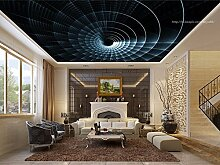 Art_wall_mural 3D Tapete Wallpaper Moderne Decke