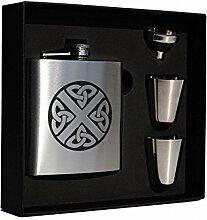 Art Zinn Sutherland Clan Crest Flachmann Box Set