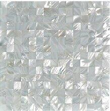 Art3d Perlmutt-Mosaik-Fliese, für die