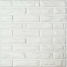 Art3d PVC-3D-Wandpaneele mit weißen