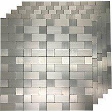 Art3d schälen und Stick Metall Mosaik Fliese für
