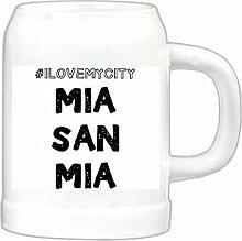 artboxONE Bierkrug Mia San Mia außergewöhnlicher