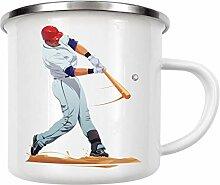 artboxONE Emaille Tasse Baseball von Nikita