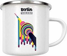 artboxONE Emaille Tasse Berlin - Germany von Sasha