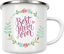 artboxONE Emaille Tasse Beste Mama von