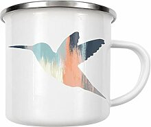 artboxONE Emaille Tasse Brushed Hummingbird von