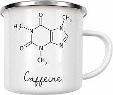 artboxONE Emaille Tasse Caffeine Molecular von AB1
