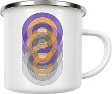 artboxONE Emaille Tasse Circle Fade von OIA -