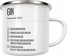 artboxONE Emaille Tasse Definition Gin von AB1