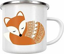 artboxONE Emaille Tasse Dream Big Fuchs von