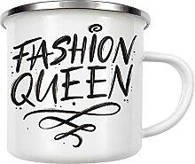 artboxONE Emaille Tasse Fashion Queen von