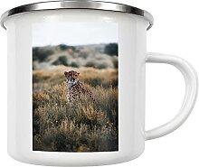 artboxONE Emaille Tasse Gepard in Namibia von