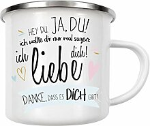 artboxONE Emaille Tasse Hey Edition - Emaille