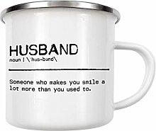 artboxONE Emaille Tasse Husband Quote von Orara