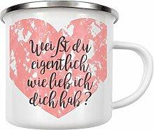 artboxONE Emaille Tasse Ich hab Dich lieb Edition