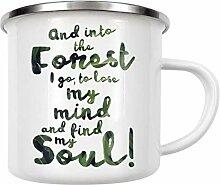 artboxONE Emaille Tasse In den Wald von OHKIMIKO -