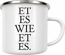 artboxONE Emaille Tasse Kölsches Grundgesetz Et