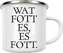 artboxONE Emaille Tasse Kölsches Grundgesetz Wat