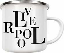 artboxONE Emaille Tasse Liverpool Buchstabensalat
