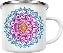 artboxONE Emaille Tasse Mandala in