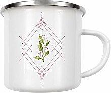 artboxONE Emaille Tasse Minimal Magical Time von