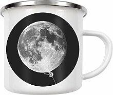artboxONE Emaille Tasse Moon Balloon von Jonas