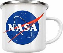 artboxONE Emaille Tasse NASA Logo von AB1 Edition