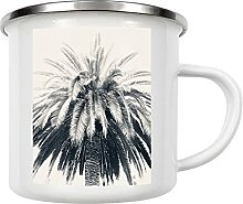 artboxONE Emaille Tasse Palmenliebe von Denise