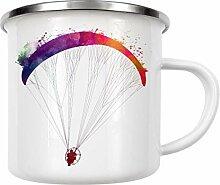 artboxONE Emaille Tasse Paraglider von Justyna