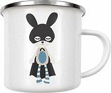 artboxONE Emaille Tasse Superhase blau von Andrea