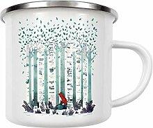 artboxONE Emaille Tasse The Birches von