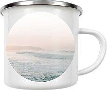 artboxONE Emaille Tasse Vanilla Sky Beach von