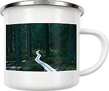 artboxONE Emaille Tasse Waldpfad von LinaTea -