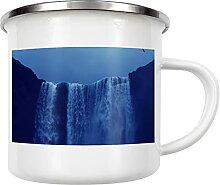 artboxONE Emaille Tasse Wasserfälle Island von