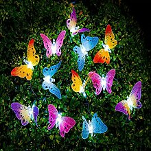 Artbro Schmetterling Lichterkette, Led Solar
