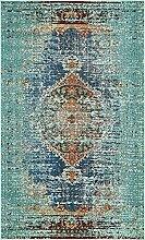 Arte Bereich Teppich, türkis, 5 x 8