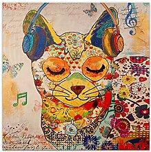 Arte Dal Mondo AS361X1 Cat Acryl Gemälde auf