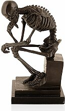 Arte Dal Mondo EP073 Thinker Skelett Bronze