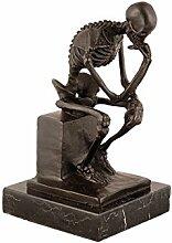 Arte Dal Mondo EP998 Thinker Skelett Bronze