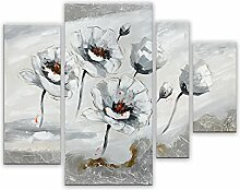 Arte Dal Mondo Wandverzierung Weiße Blumen