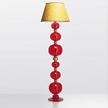 Arte Di Murano Stehlampe Rot,Handgefertigt in