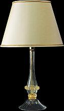 Arte Di Murano Tischlampe beige,Handgefertigt in