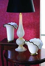 Arte Di Murano Tischlampe weiß,Handgefertigt in