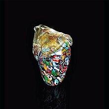 Arte Murano Eule aus Muranoglas, Glas, mehrfarbig,