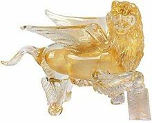 Arte Murano Leone Klein, Glas, goldfarben